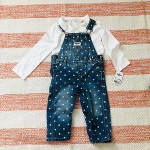 Toddler girl jean overalls